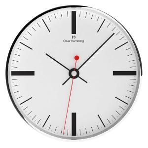 壁掛け時計 掛時計 イギリスデザイン Oliver Hemming オリバー・ヘミング W300SSTATTB 温度計 湿度計 おしゃれ 引越し 新築 祝い プレゼント googoods