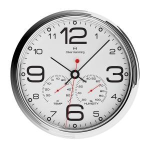 壁掛け時計 掛時計 イギリスデザイン Oliver Hemming オリバー・ヘミング W360S51WTB 温度計 湿度計 おしゃれ 引越し 新築 祝い プレゼント googoods
