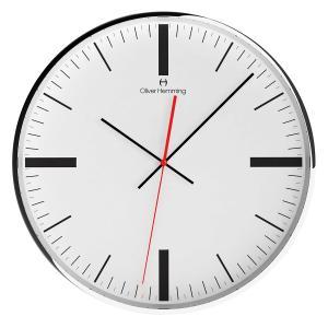 壁掛け時計 掛時計 イギリスデザイン Oliver Hemming オリバー・ヘミング W400SSTATTB 温度計 湿度計 おしゃれ 引越し 新築 祝い プレゼント googoods