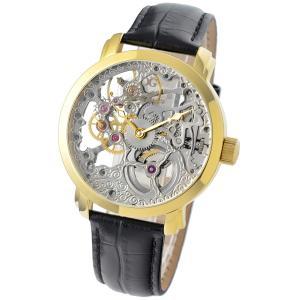 Gallucci ガルーチ イタリアブランド 手巻き 腕時計 メンズ ケース幅:43mm WT22200SK-GD|googoods