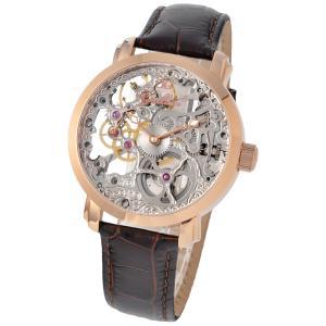 Gallucci ガルーチ イタリアブランド 機械式手巻き 腕時計 メンズ スケルトン ケース幅:43mm WT22200SK-RG|googoods