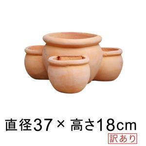【訳あり】ストロベリーポット 素焼き鉢 小 37cm 植木鉢 uetc147-16 [of20]◆鉢...