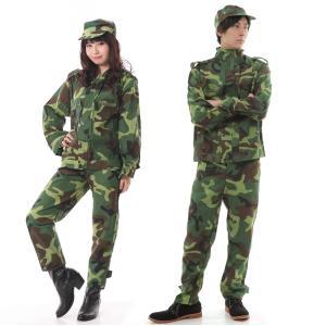 迷彩服 アーミー 軍人 コスプレ 上下 衣装 コスチューム 長袖|goovice