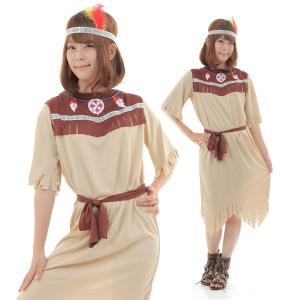 インディアン コスプレ 衣装 民族 コスチューム レディース 女|goovice