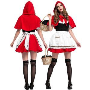 赤ずきん コスプレ レディース 衣装 あかずきん コスチューム 赤頭巾 ハロウィン goovice