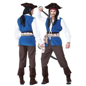 ジャック スパロウ 海賊 コスプレ 衣装 コスチューム メンズ 男性 パイレーツ オブ カリビアン|goovice
