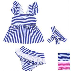 水着 子供 女の子 キッズ 水着 セパレート 3点セット  ・伸縮性が高く、ソフトな着用感なので動き...