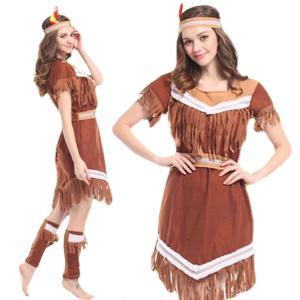 インディアン コスプレ インディアン コスチューム 仮装 民族衣装 女性 goovice