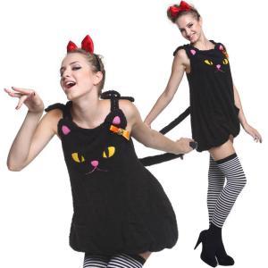 猫 コスプレ 猫 コスチューム ワンピース 黒猫 コスプレ 衣装 goovice