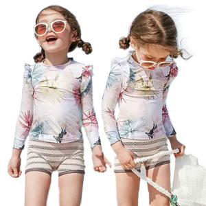 a4b7bb506826d キッズ 水着 女の子 100 110 120 ラッシュガード 可愛い 水着 子供 女児 花柄 おしゃれ セパレート セット