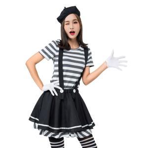囚人服 レディース 囚人 コスチューム 女性 ハロウィン コスプレ 衣装 かわいい コス 仮装