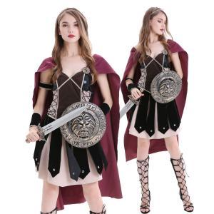 戦士 コスプレ 女 ハロウィン ローマ 騎士 剣士 コスチューム レディース ギリシャ 英雄 コス 衣装 仮装 goovice