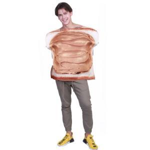 パン コスプレ 面白い ハロウィン 食パン 着ぐるみ コスチューム おもしろい おもしろ 衣装 仮装|goovice