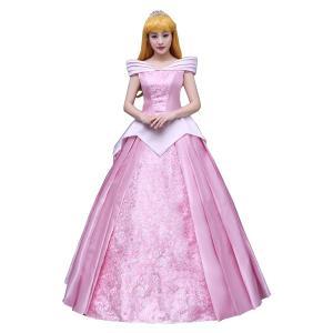 オーロラ姫 ドレス 衣装 コスプレ 眠れる森の美女 プリンセス 大人 レディース ハロウィン コス 衣装 成人 仮装|goovice