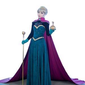 アナ雪 エルサ ドレス コスプレ レディース アナと雪の女王 プリンセス 衣装 コスチューム ハロウ...