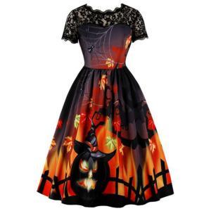 ハロウィン ワンピース レディース 可愛い 魔女 コスプレ イベント コスチューム ハロウィンコス パーティー 衣装 ドレス|goovice