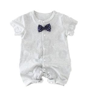 ロンパース 半袖 前開き 男の子 ベビー 服 夏 赤ちゃん カバーオール goovice