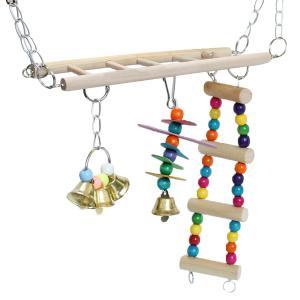 インコ おもちゃ 鳥 とまり木 小鳥 玩具 オウム はしご セキセイ アスレチック ゲージ 飾り 木...