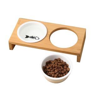 猫 食器 猫用 餌入れ ねこ 水飲み 水 皿 えさ 入れ 水入れ ボウル 子猫 食器台 陶器 可愛い...
