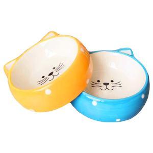 猫 食器 猫用 餌入れ ねこ 水飲み 水 皿 ネコ えさ 入れ 子猫 水入れ ペット フード ボウル 可愛い
