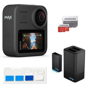 【GoPro公式】GoPro MAX + デュアルバッテリーチャージャー+バッテリー + 認定SDカ...
