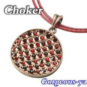 スワロフスキークリスタル きらきら カラーチョーカー ラウンド丸形 レッド 赤 bw7-2red【v】|gorgeous-ya