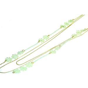 レースフラワー 春夏ロングネックレス グリーン ch10-8grn プレゼント|gorgeous-ya