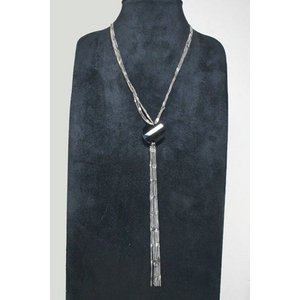 チェーンネックレス ブラックカラー ラウンド型オニキスロングネックレス gneck-11-82 プレゼント|gorgeous-ya