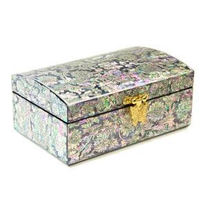 螺鈿 らでん 手作り 作家物  宝石箱 伝統工芸美術品 ジュエリーケース ゴールド K10|gorgeous-ya