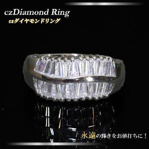ゴージャスキュービックジルコニアリング スクエアCZダイヤモンドが並ぶ ゴージャスリング 9号/10号/11号/13号/14号/15号  mir11r-04|gorgeous-ya