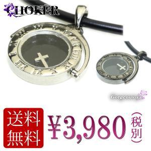 チョーカー メンズ ギリシャ数字 ゆれるトップ ネックレス ブラック 腕時計風 シルバー プレゼント|gorgeous-ya