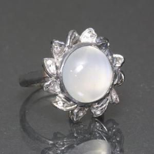 リング 指輪 ムーンストーン 大きなムーンストーンが輝くゴージャスリング わけあり品 アウトレット ring-11-01wht|gorgeous-ya