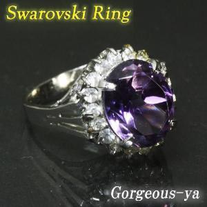リング 指輪 パープルストーンリング 大きなパープルのストーン アウトレット ring-11-09ppl|gorgeous-ya
