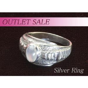 【アウトレット】指輪 ムーンストーン アンティークデザインシルバーリング ring-13-24|gorgeous-ya