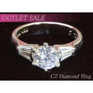 【アウトレット】指輪 1カラットczダイヤモンド デザインリング ring-13-33|gorgeous-ya