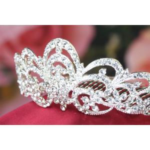 ティアラ 結婚式 ヘアアクセサリー ウエディング ウェディング ブライダル  コーム|gorgeous-ya|04