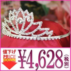 《大幅値下げ》ティアラ 超大粒 スワロフスキー 王冠 ゴージャスティアラ 020|gorgeous-ya