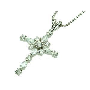 ネックレス レディース CZダイヤモンド クロス 十字架 プレゼント 誕生日 ギフト キュービックジルコニア プレゼント|gorgeous-ya