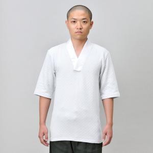 メンズ 半襦袢 Tシャツタイプ 男性用 紳士 秋冬用 日本製 洗える [綿キルトTシャツ半襦袢 (M-LL)] 父の日|gosaido
