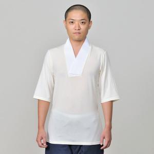 肌着 下着 襦袢 Tシャツタイプ メンズ 男性用 秋冬用 日本製 洗える [ホットたっち肌着(M-L)] 敬老の日 父の日 ギフト|gosaido