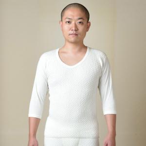 保温 肌着 上下セット 半襦袢 メンズ 男性用 秋冬用 洗える 日本製 [紳士肌着ひだまり極 (上下) (M-LL)] 父の日 送料無料|gosaido