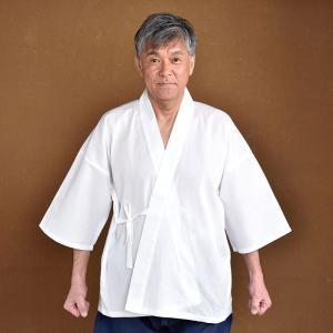 肌着 半襦袢 下着 和装用 寺用 メンズ 男性用 春夏用 洗える 日本製 [高島ちぢみ肌着 (M-LL)] 父の日|gosaido