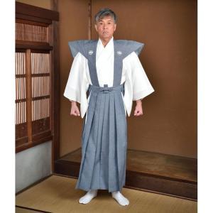 裃 かみしも ハコマチ型 紋入り メンズ 男性用 紳士 日本製 [裃 (スリ紋) (M-LL)] 敬老の日 父の日 送料無料|gosaido