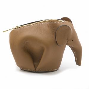 LOEWE 199.30JG73 2030 ELEPHANT COIN PUSE コインケース 2912 TAN/WHITE レディース ロエベ|gosh