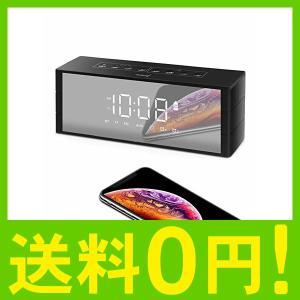 【特徴】:(1)時計、スピーカー2in1。(2)LED大液晶鏡面で暗くでも見やすい。(3)二つのクロ...