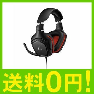Logicool G ゲーミングヘッドセット G331 ブラック/レッド 2.1ch ステレオ ノイ...