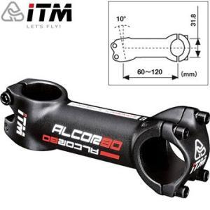 【在庫あり】ITM ALCOR 80 ブラック ステム 31.8mm ±10|gottsu