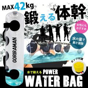 【あすつく】GORIRAMAN 体幹トレーニング 器具 ウォーターバッグ  42kg 水 筋トレ ジ...