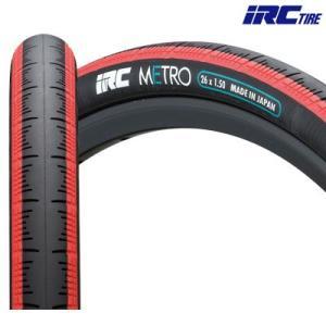 IRC(アイアールシー)メトロ HE26×1.50 タイヤ  (レッド)|gottsu