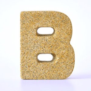 すなもじ 「B」 40g×1個 モルタルマジック 砂 置物 オブジェ 砂像 他のメーカー商品との同梱不可 代引不可|gottuou-tottori